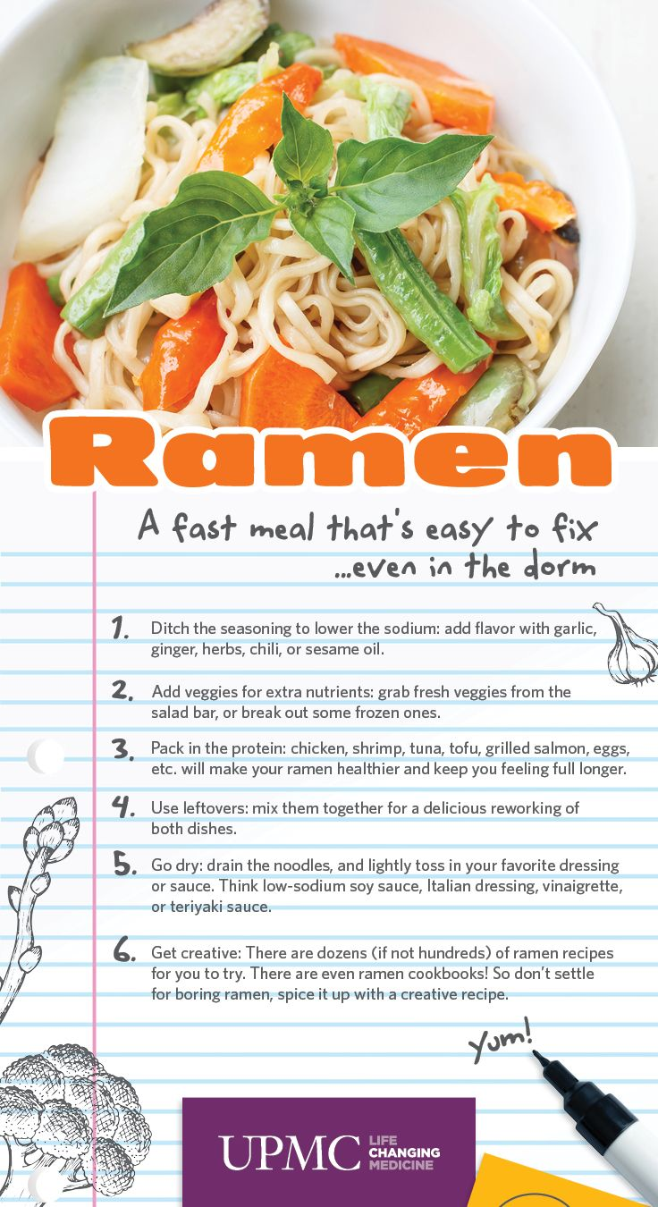 how to make mr noodles healthier
