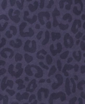 American Rag Men's Cheetah Print Shirt, Created for Macy's - Blue 3XL