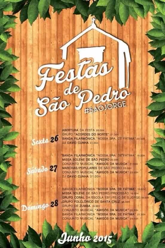 Festa de São Pedro em São Jorge 26 a 28 de Junho