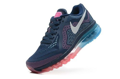 2014 air max 621078-415 blue white pink women running shoes