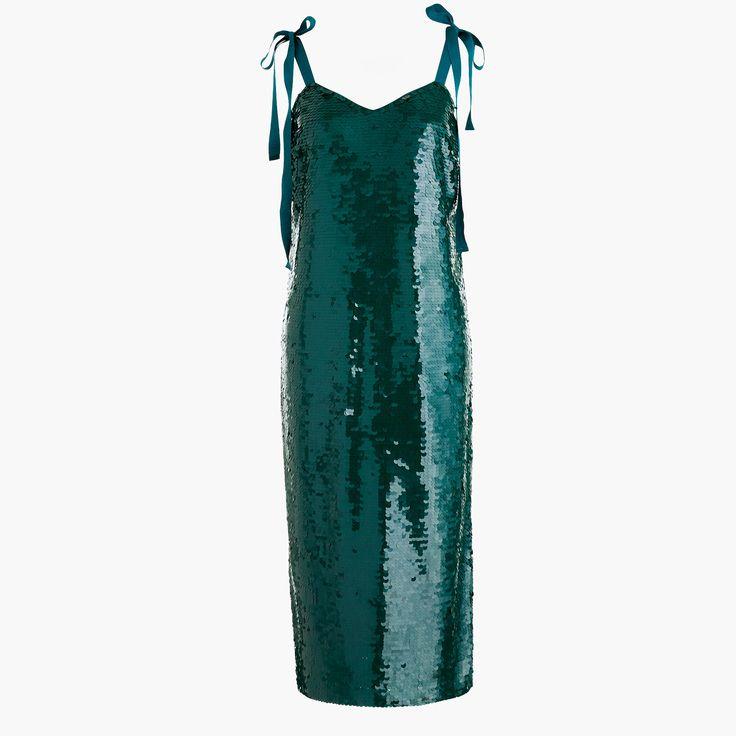 J.Crew - Collection tie-shoulder sequin dress