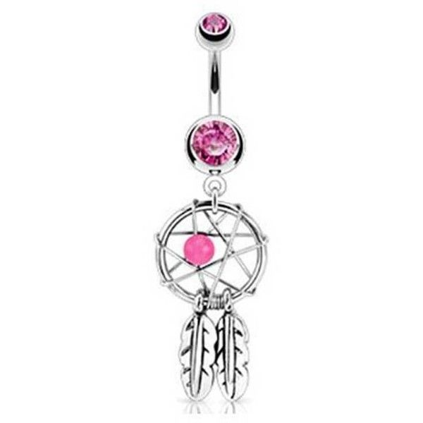 Bling Jewelry Pink Dreams Charm Body Jewelry ($9.99) ❤ liked on Polyvore featuring jewelry, belly ring, piercings, body jewelry, body-piercing-rings, pink, body jewellery, dangling jewelry, belly button rings jewelry and dangle charms