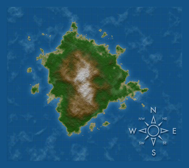 I used Photoshop's Perlin noise generator to create a random fantasy map