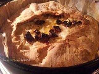 Torta Salata con Cipolle , Formaggio Spalmabile, Pomodori secchi - Pie with onions Philadelphia sundried tomatoes #Tortasalata #Saltyca