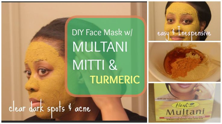Multani Mitti  & Turmeric Face Pack-for Acne & Dark Spots