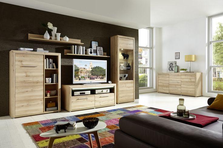 Wohnwand Und Sideboard Buche Hell Mit Beleuchtung Woody 22-00761 Holz modern Jetzt bestellen unter: https://moebel.ladendirekt.de/wohnzimmer/schraenke/wohnwaende/?uid=0b1fab16-e7c7-5788-8c17-8d3150cc485c&utm_source=pinterest&utm_medium=pin&utm_campaign=boards