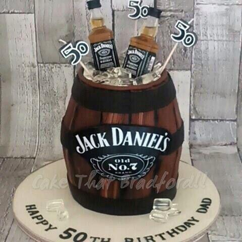 Jack Daniels barrel cake. Fantastic cake for men