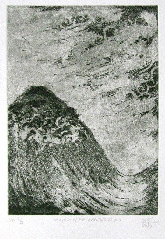 17X12,5 cm aquatinte, morsure au pinceau sur cuivre papier Velin BFK Rives 250g série de 4