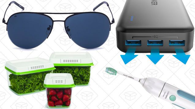 Mondays Best Deals: Polarized Sunglasses Rubbermaid FreshWorks Philips Hue and More