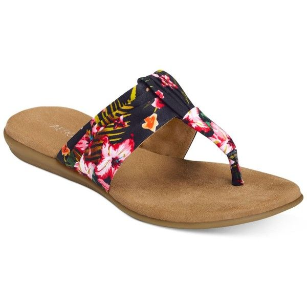 Aerosoles Chlairvoyant Flat Sandals ($59) ? liked on Polyvore featuring  shoes, sandals,