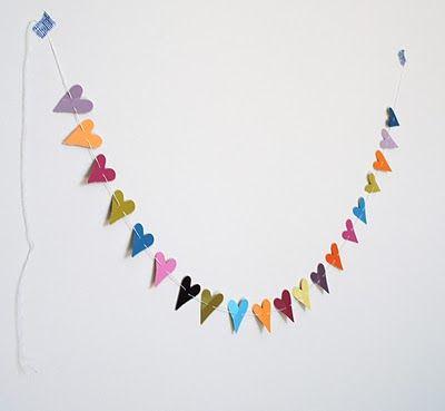 Deko Girlande Farbkarten Wimpelkette