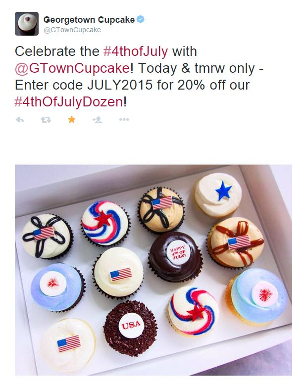 Great Twitter post from Georgetown Cupcake in New York, NY / Sympathique post Twitter de Georgetown Cupcake à New York, NY https://twitter.com/GTownCupcake/status/615869748425981956