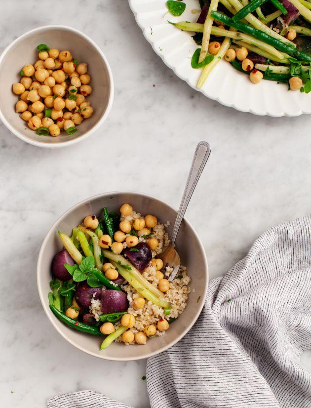 Green Bean & Purple Potato Salad / loveandlemons.com