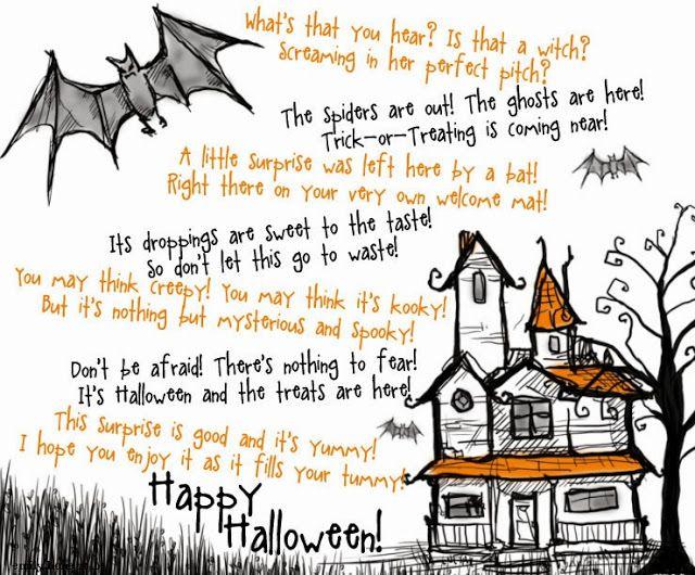 house hone fun halloween treat poem - Good Halloween Poems