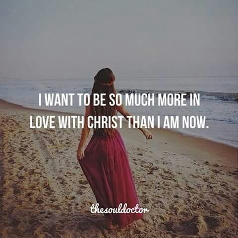 I want to be so much more in live with Chris than I am right now!                                                                                                                                                                                 More