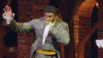 Okieriete Onaodowan as James Madison and Daveed Diggs as Thomas Jefferson - Hamilton