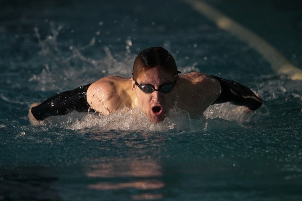 Amazing. Naval Lt. Brad Snyder, 28, a blind swimmer, during a workout in preparation for the Paralympics in London. As part of his rehabilitation after he was blinded in Afghanistan, he got back into the swimming pool, where he had spent much of his high school and college years. Five months after the accident, he swam in a meet at the Olympic training center in Colorado.