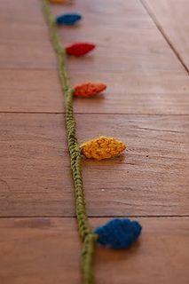 Crochet decorative lights garland