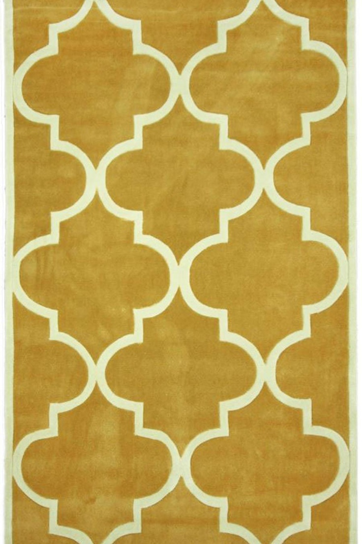 Trellis Rug In Gold Preppy Patterns Wallpaper