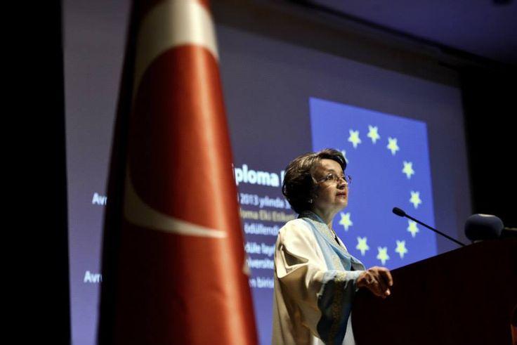 2014-2015 eğitim-öğretim yılı açılış konuşmasını Ege Üniversitesi Rektörü Prof. Dr. Candeğer Yılmaz yaptı.