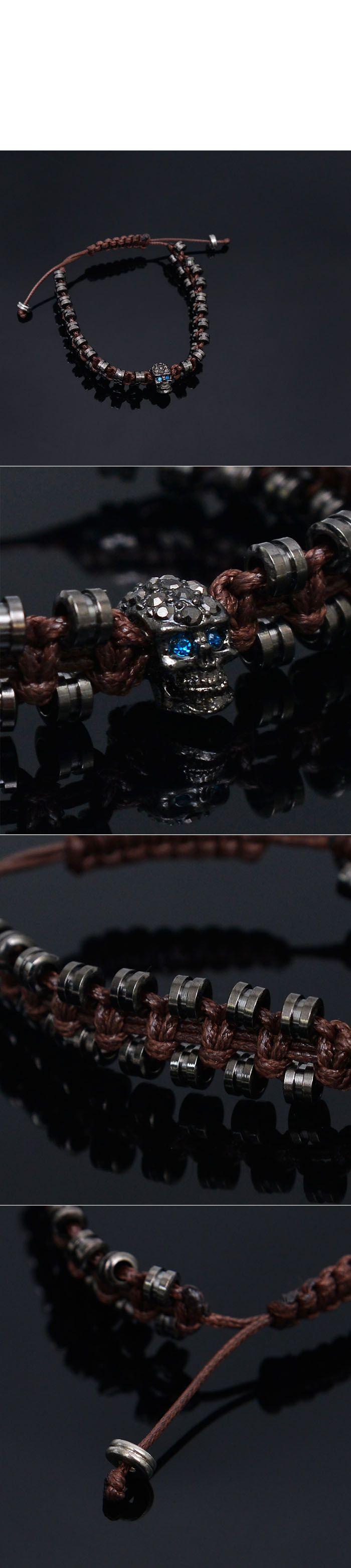 Blue Eye Robot Skull Cyber Cuff-Bracelet 245 - GUYLOOK