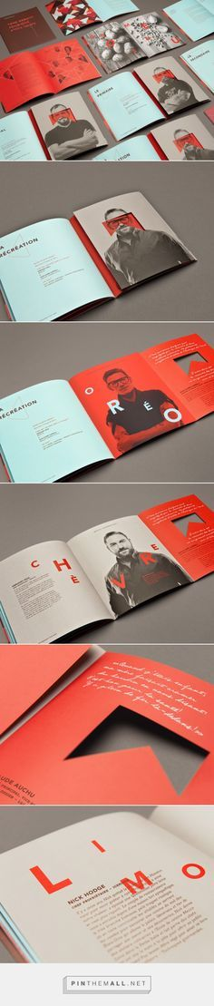 #brochure / #booklet design inspiration. I love the colors with modern…