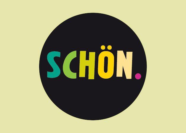 """Buttons - Sprüche - Button """"SCHÖN."""" 24 mm - ein Designerstück von Wi-La-No bei DaWanda"""