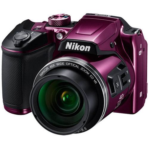 BeachCamera.com - Nikon COOLPIX B500 16MP 40x Optical Zoom Digital Camera w/ Built-in Wi-Fi - Purple