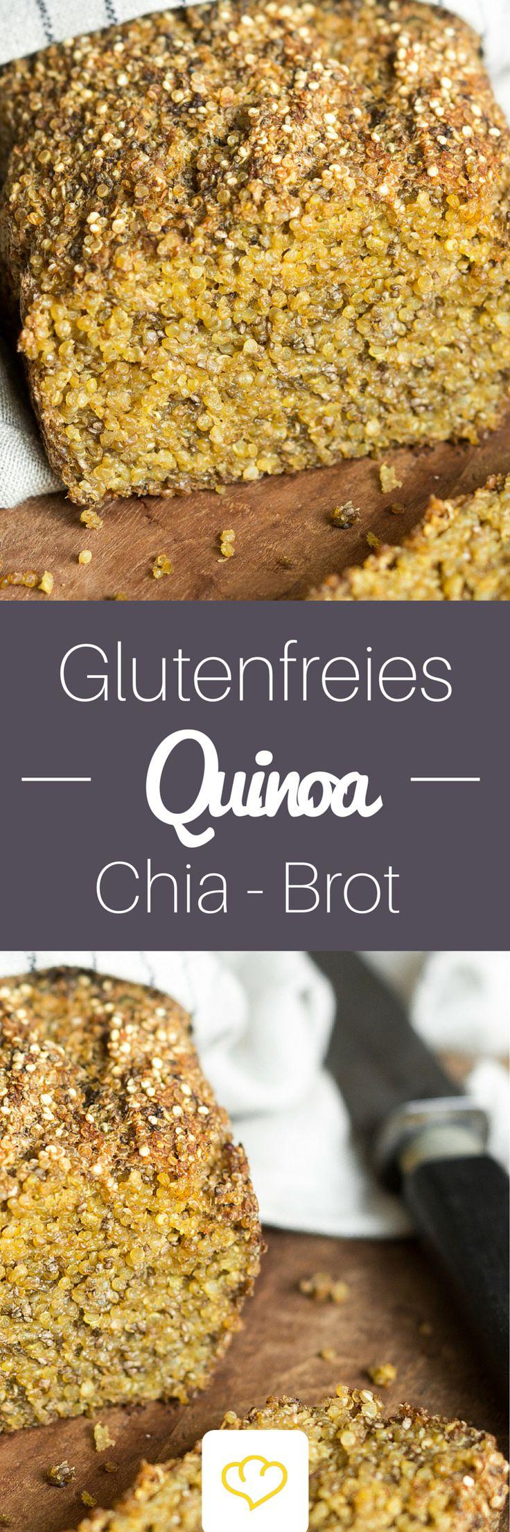 Ein Powerbrot, das allen schmeckt. Denn – dieses köstliche Quinoa-Chia-Brot ist frei von Gluten, tierischen Produkten und Zucker. Und obendrein so einfach zu machen, dass du dich die ganze Woche und das Wochenende und die darauffolgende Woche und … darüber freuen kannst. #glutenfrei #Quinoa #Chia #Brot