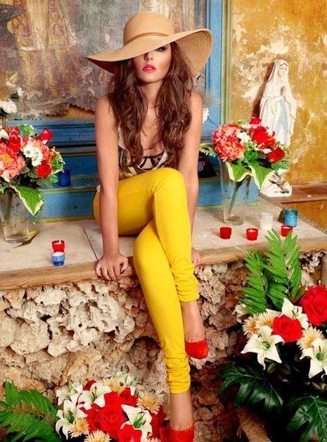 #hat #colors #flowers