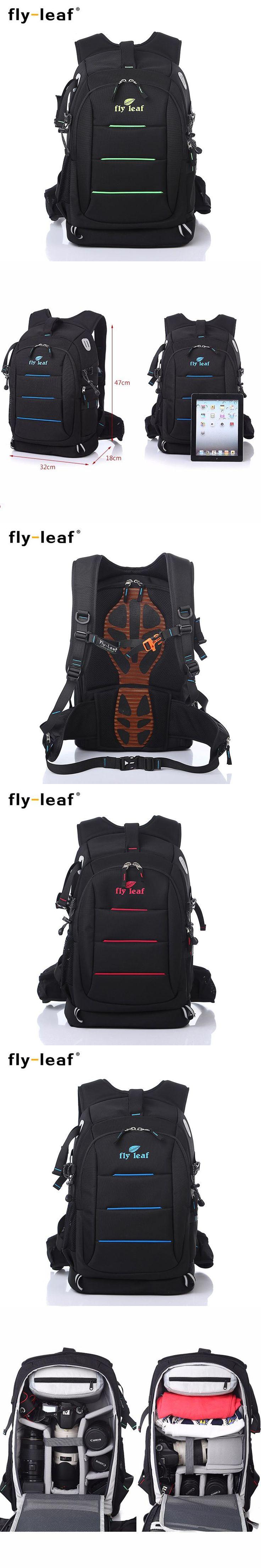Fly-leaf FL 336 DSLR  Photo Bag Camera Backpack Universal  Large Capacity Travel Camera Backpack For Canon/Nikon Digital Camera
