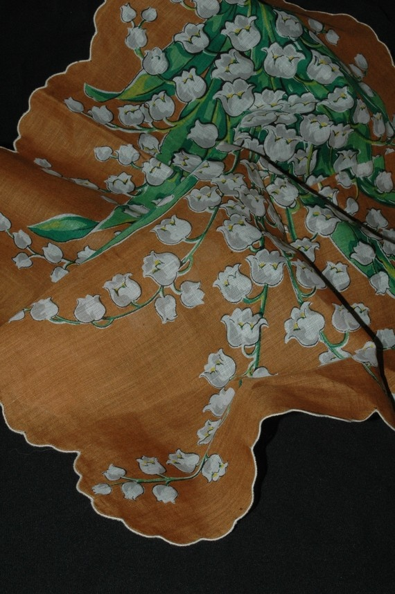 Lily of the Valley vintage hankie