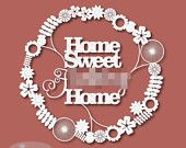 Home Sweet F***ing home digital template download for paper cutting.  Personal and Commercial use... Epic gift for the sweary people in your life... or you.