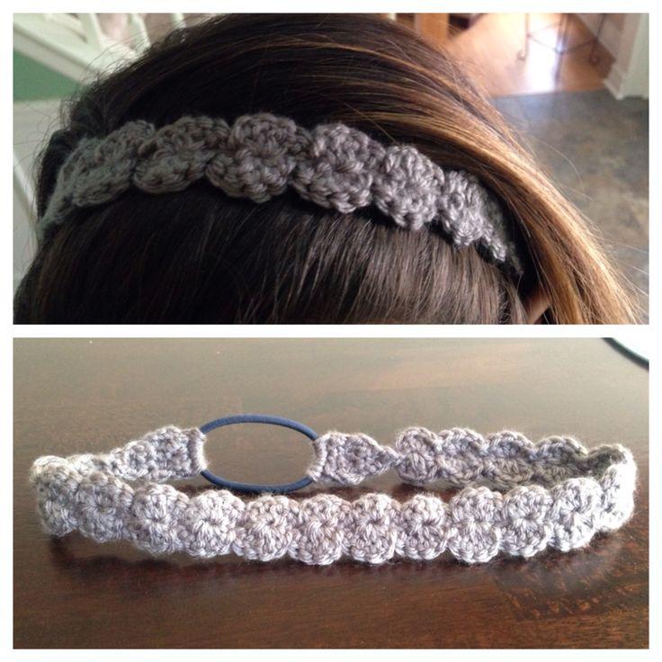 Made a crocheted shell headband :)