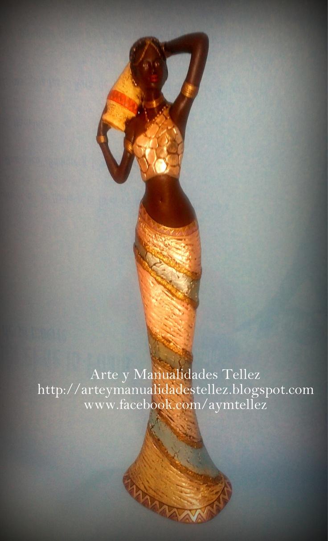 Figura Africana decorada