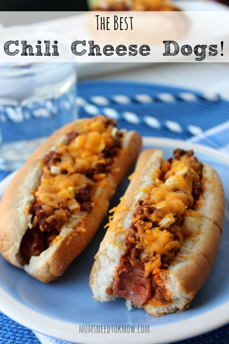 Chili cheese dogs are only really good when they are topped with the best chili recipe around! This recipe only takes 30 minutes and is SO easy!
