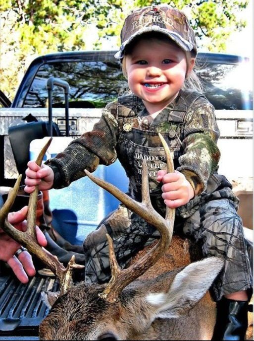 This will be my little girl one! Daddy's little hunter! So adorable!