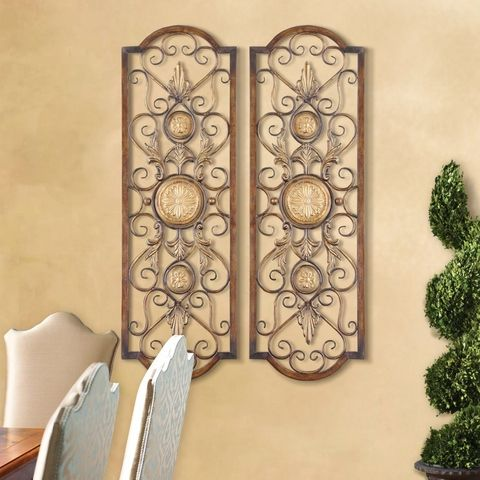 Tuscan Wall Grille, Mediterranean Style Wall Art, Tuscan Wall Decor. Uttermost 13475 Micayla Panels S/2. Tuscan Home Decor Retailer Since 1996. Free Shipping. Guaranteed Lowest Prices. BellaSoleil.com Tuscan Decor.