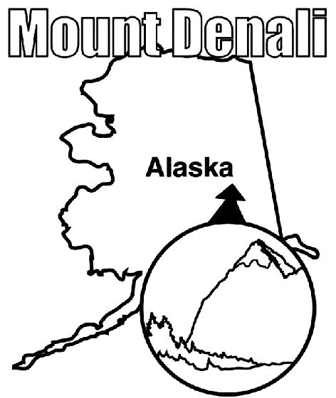 denali national park coloring pages - photo#1