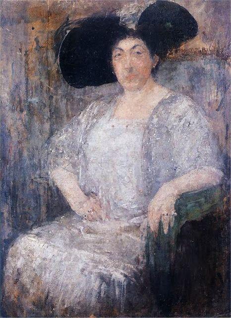 1912 Olga Boznanska (Polish Impressionist painter, 1865-1945) Gabriela Reval