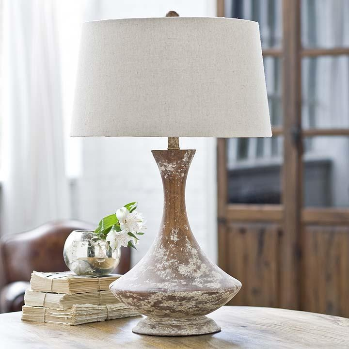 Charming Wood Vessel Table Lamp. Living Room ... Part 19