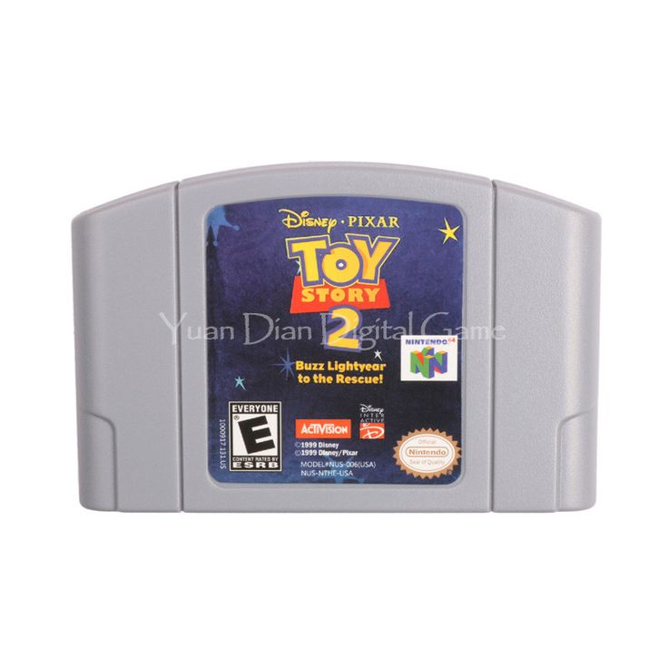 Nintendo N64 Video Game Cartridge Console Card Disney Pixar's Toy Story 2 Buzz Lightyear to the Rescue English Language Version