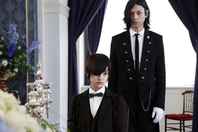 Live Action Black Butler Movie Image Gallery: Hiro Mizushima and Ayame Goriki in the live action Black Butler Movie http://anime.about.com/od/blackbutler/ig/Live-Action-Black-Butler-Movie-Image-Gallery/index.htm