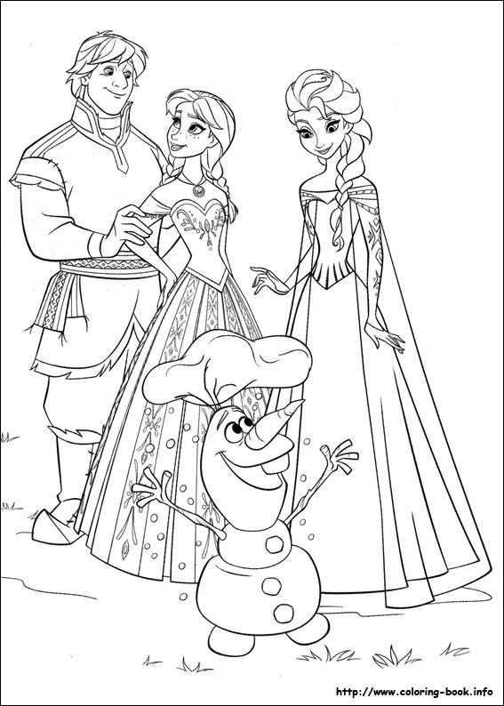 Frozen coloring picture. More kid's coloring pages under this pin.