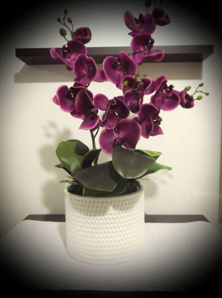 Arranjo Orquídeas Roxas | Atelier by Dreams | Elo7