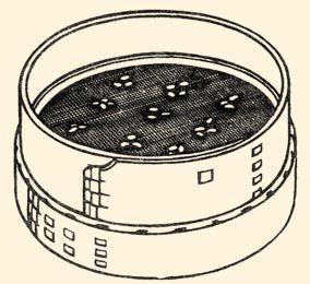 Babvetés: babok kirakása a szitán