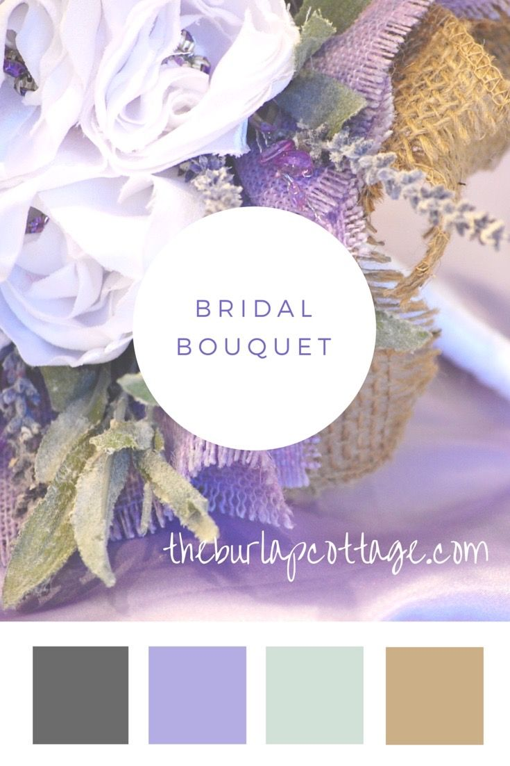 Bridal Bouquet for wedding in Lavender, White and Natural.  Burlap adds the tension between the rustic and the refined
