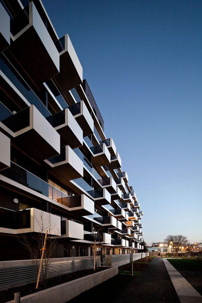 Wohnbasis alpha 11 Apartments Building, Vienna, Austria by Sue Architekten