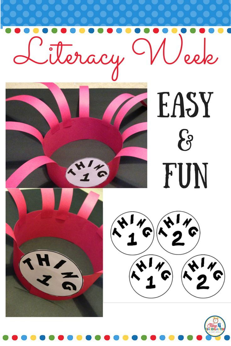 Celebrate dr seuss birthday or anyway with these free dr seuss quote - Dr Seuss Thing 1 And Thing 2 Hat Free Image To Crete A Fun Hat