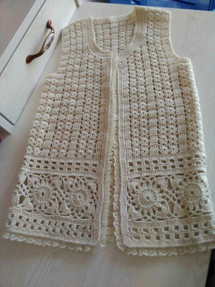 Orgu Bayan Yelek Modelleri Orgu Bebek Yelek Ornekleri Tigisi Bebekyelek Yelek Baby Knitting Patterns Orgu Tig Isi Ceket